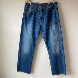 NWT AEO Relaxed Straight Jeans Sz 33x30